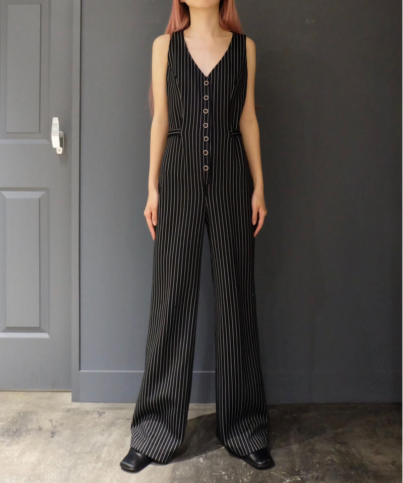Vintage   Stripe Jumpsuits
