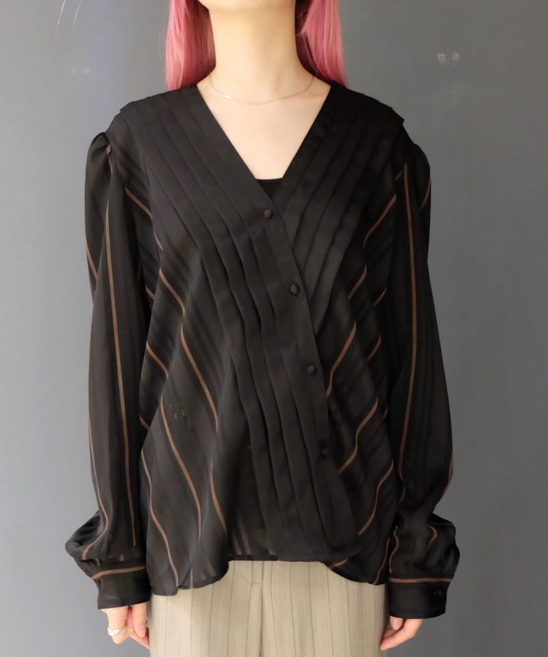Vintage   Pleats Design Tops
