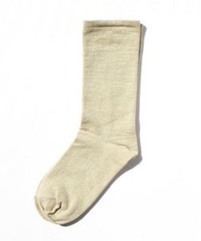 made in west/Organic cotton socks 緑綿・off-white  (S/M)