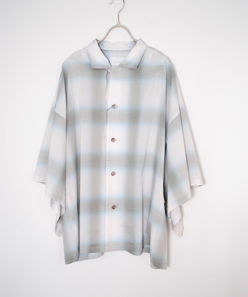 ANITYA/Poncho Open collared Shirt(blue)