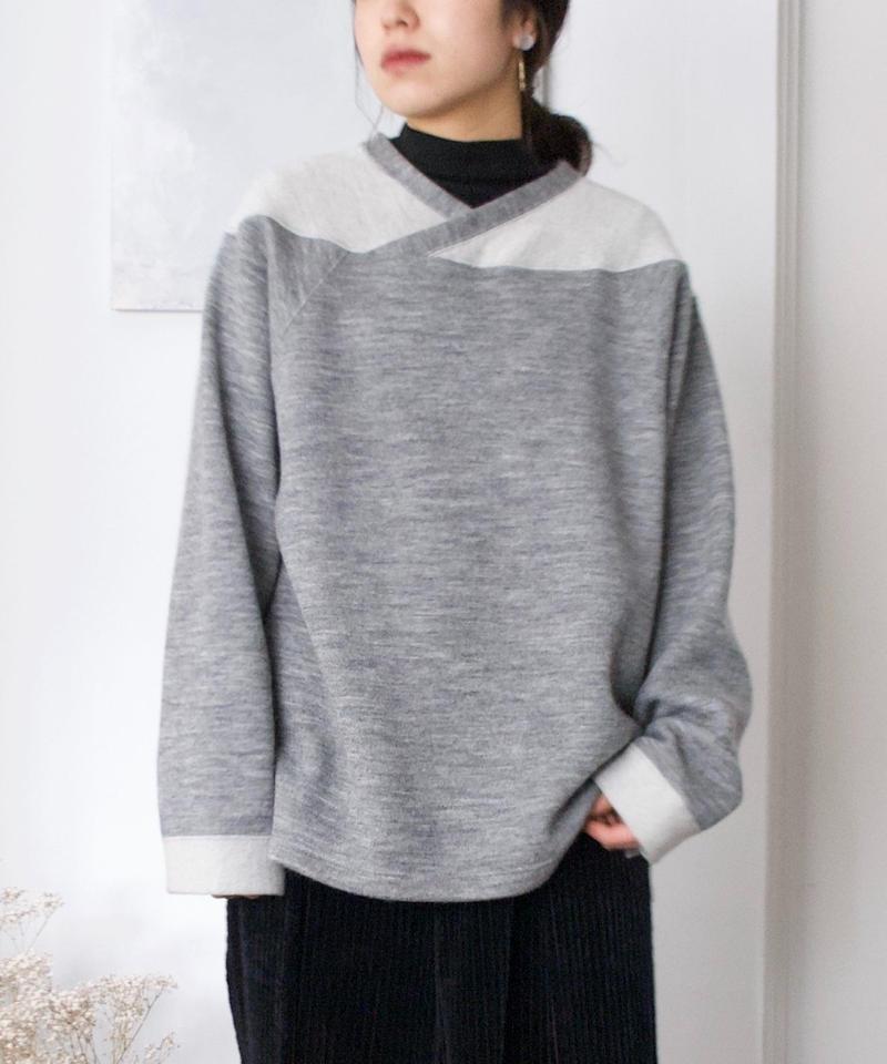 ANITYA/Football Knit Pullovers(gray)