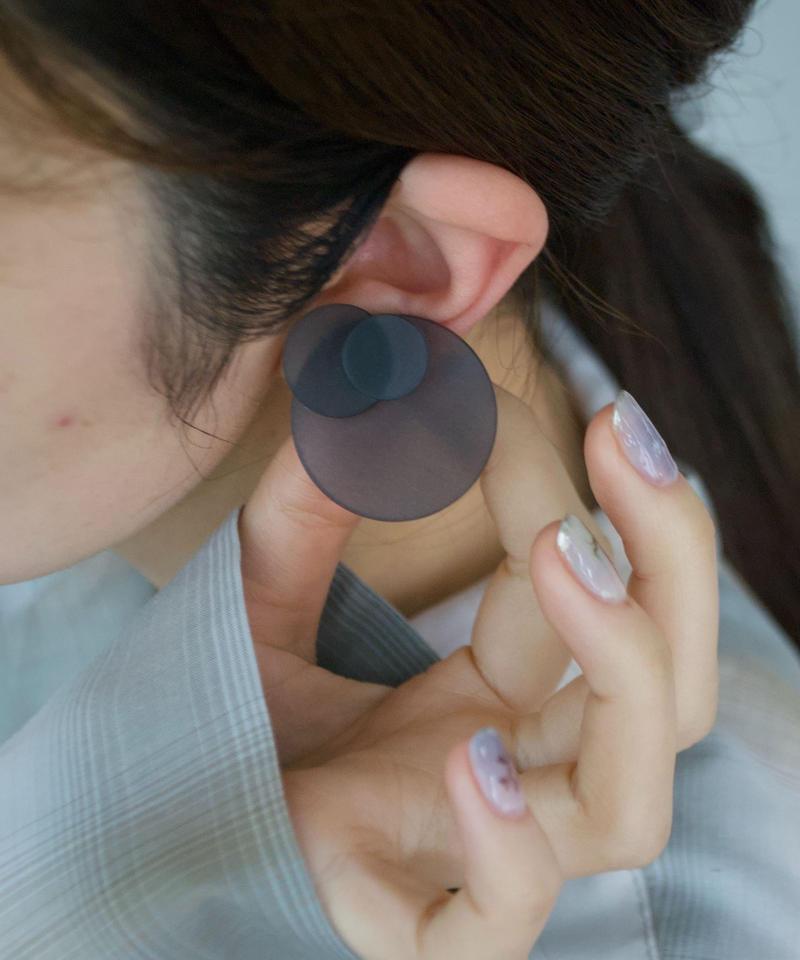 MMAA/oto03  pair pierce・earring (navy)