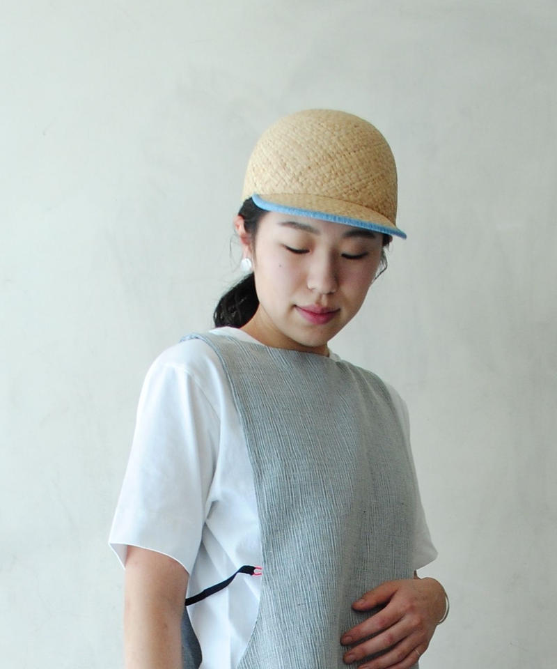 mitake/Raffia cap(light blue)