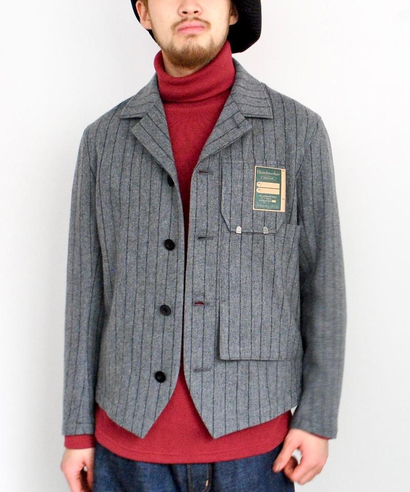 ASEEDONCLOUD Handwerkers/work jacket wool stripe(gray)
