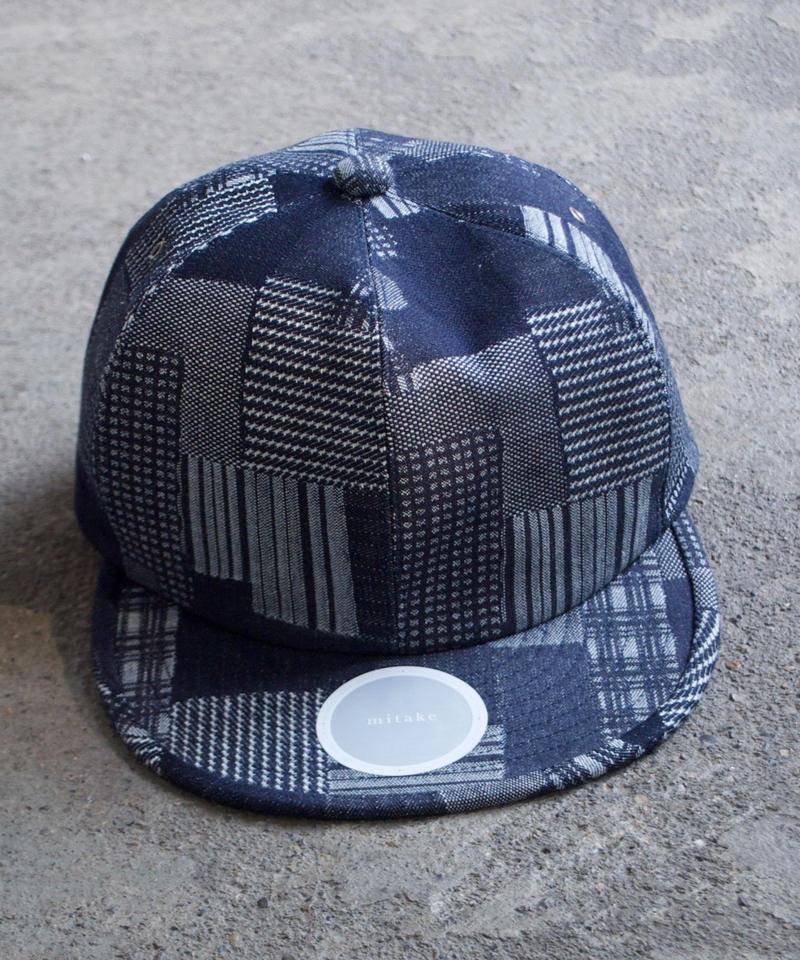 mitake/6panel cap(indigo patchwork)