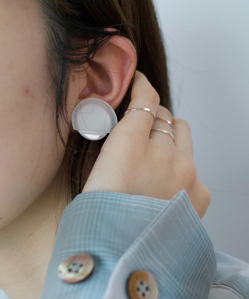 MMAA/oto22 pair pierce・earring (white)