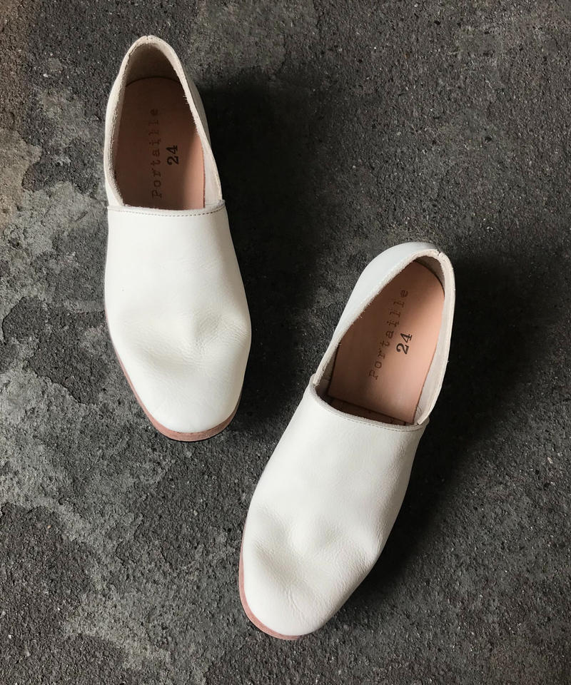 Portaille/ラフスリッポン(white・ladies)