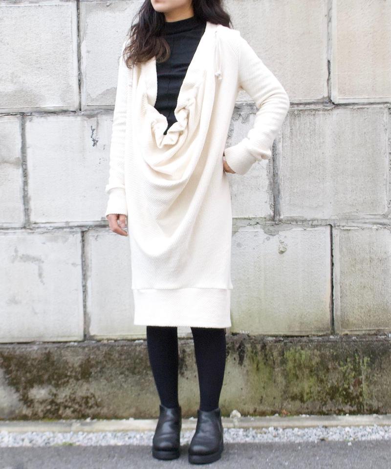 3tsui/drape one-piece(white)