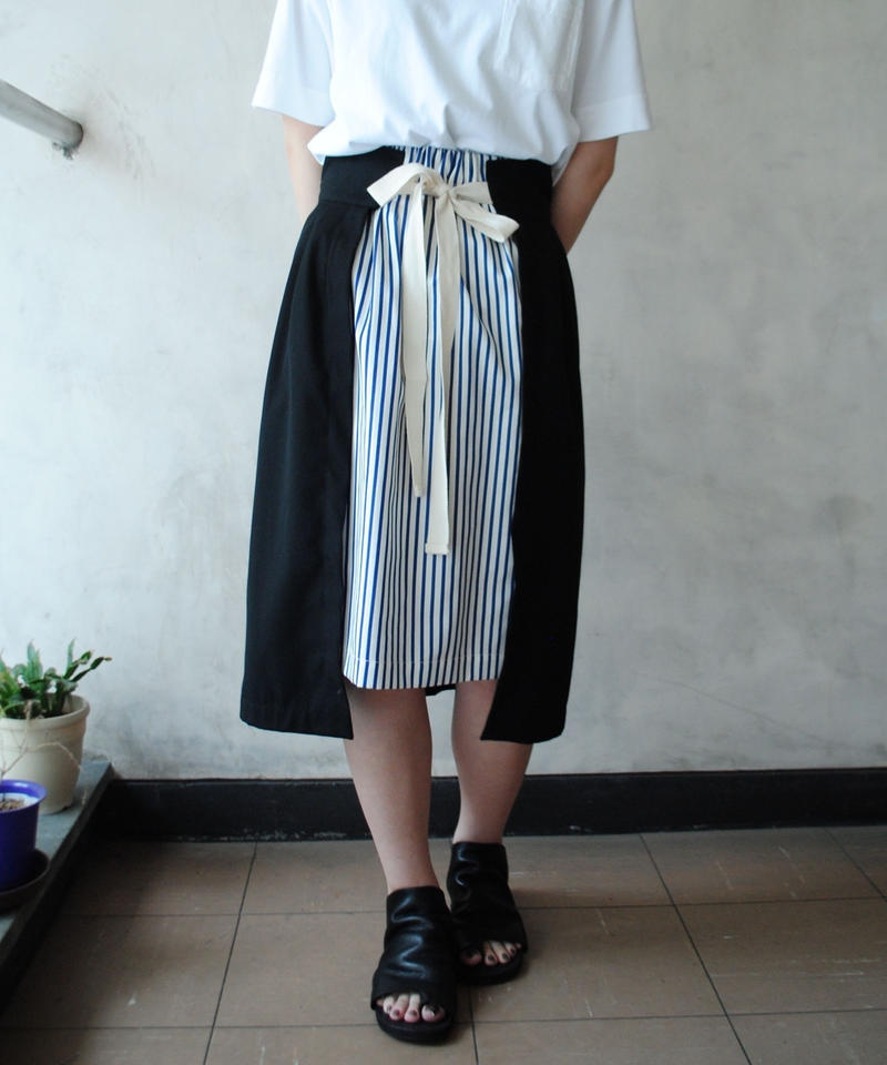 ANITYA/wrap skirt(black)