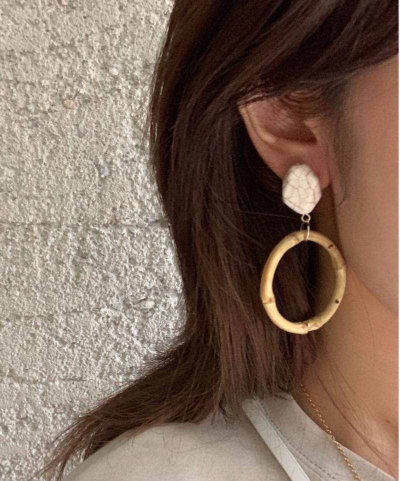 bamboo circle earring