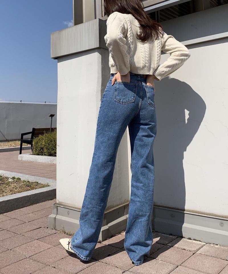 《 即納 》【S,M,L】high waist denim pants