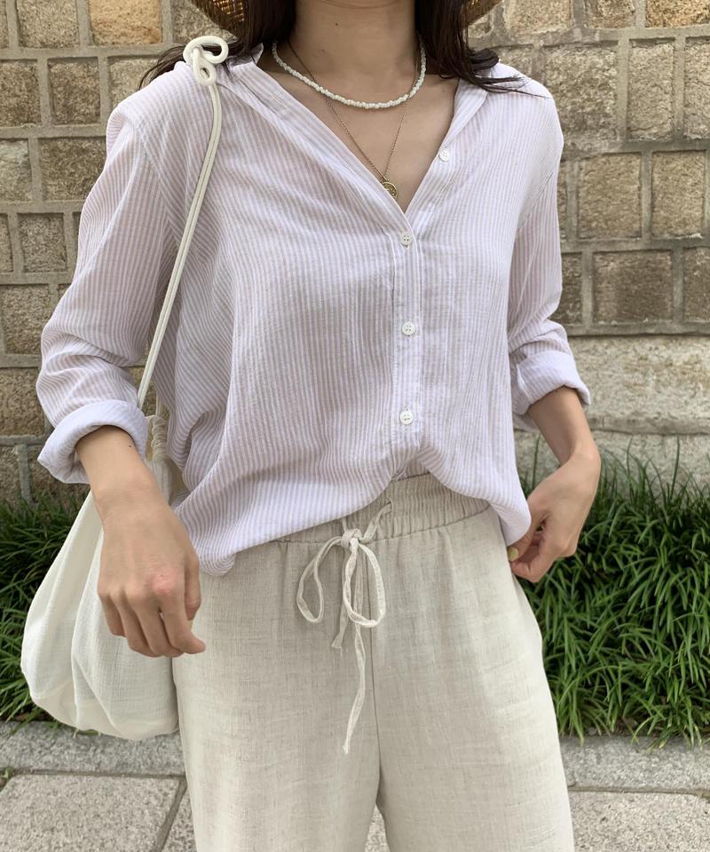 《 即納 》daily stripe cotton sh