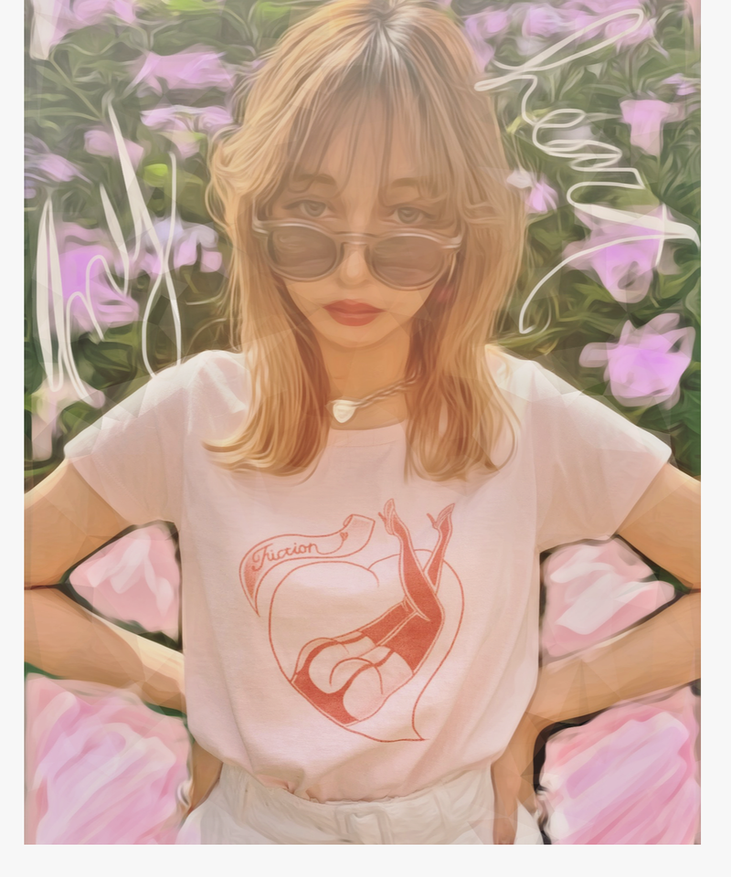 """""""MY HEART"""" Printed T"""