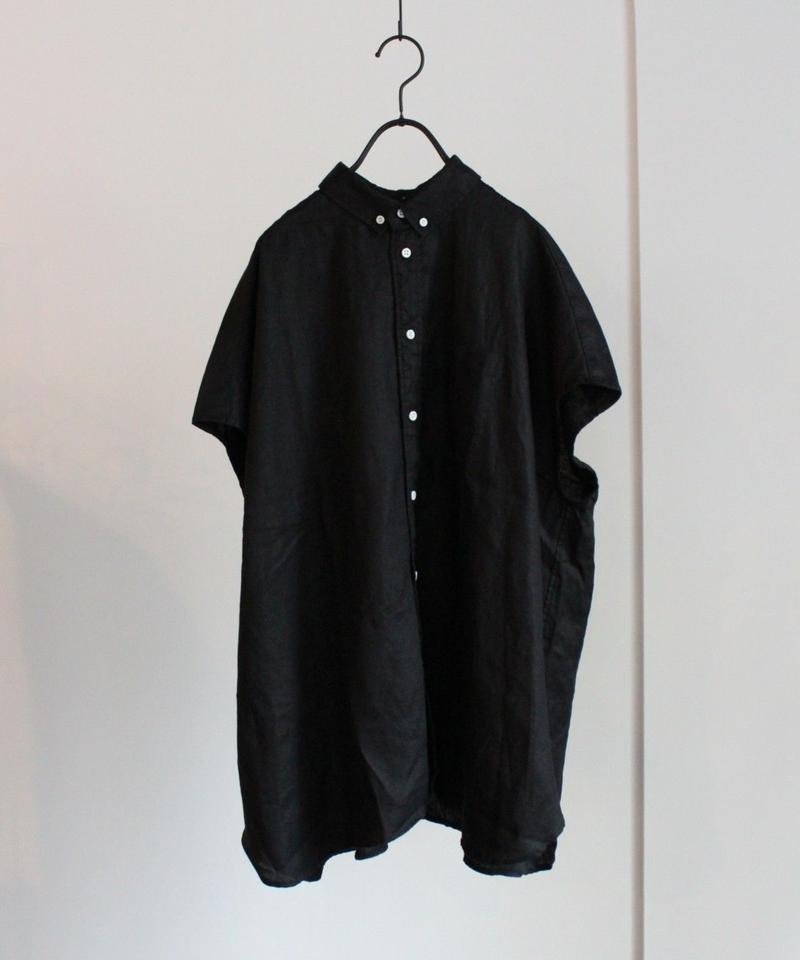 UT191SH028 ソフトリネン ボタンダウンノースリーブシャツ