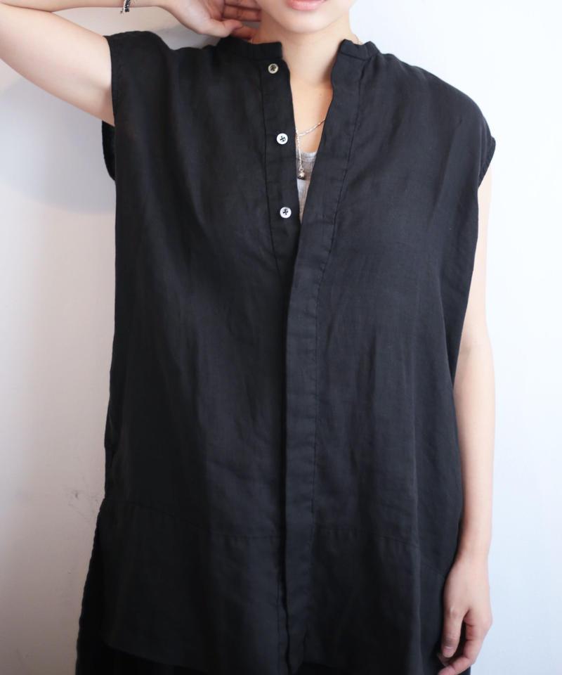 UT191SH016 リネン ロングシャツ