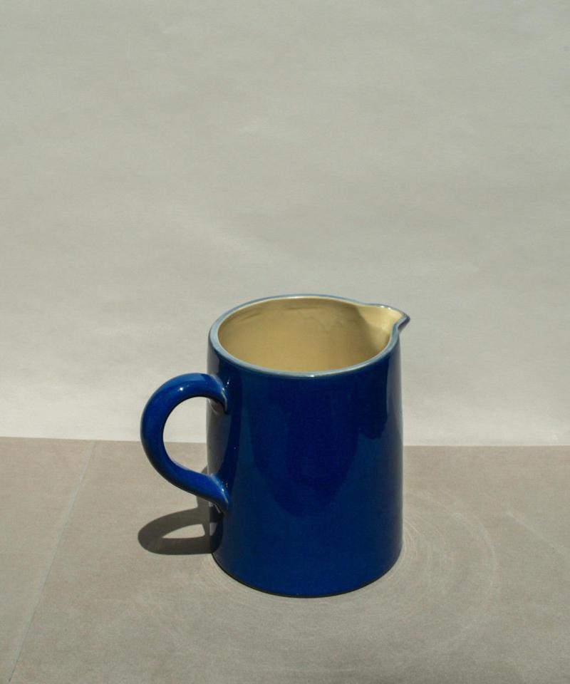 vintage blue pitcher