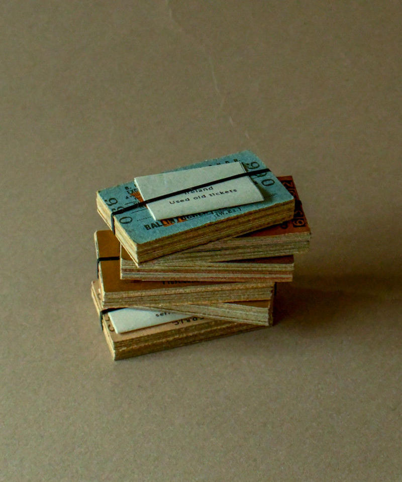 Old used rail tickets.