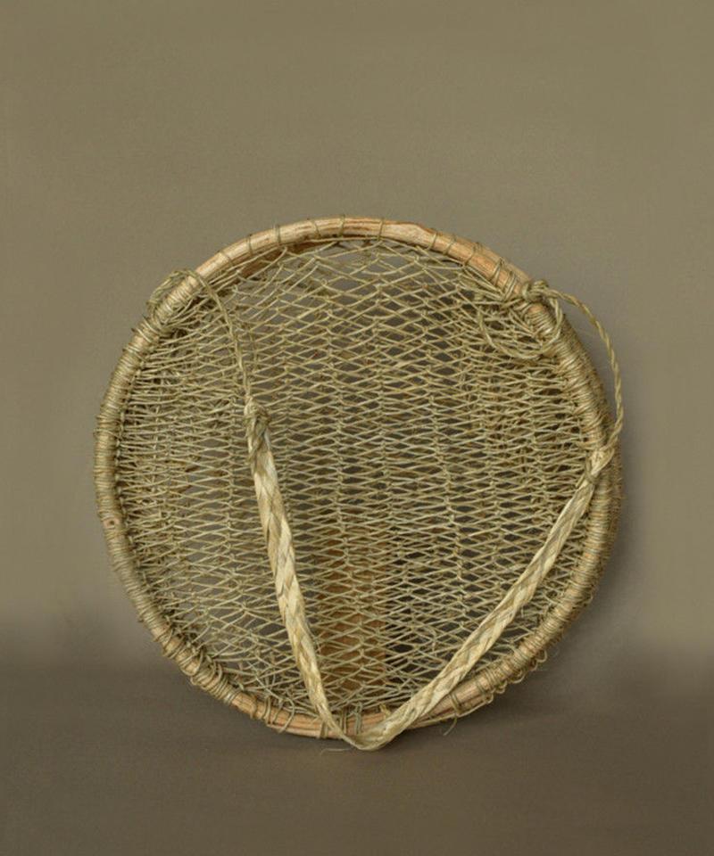 Handwoven Tree Bark Basket Round