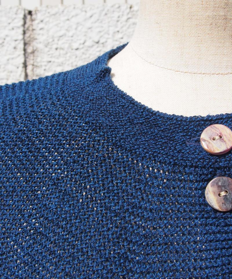 【日本製】ホールガーメントガーター編みAラインふんわりカーディ