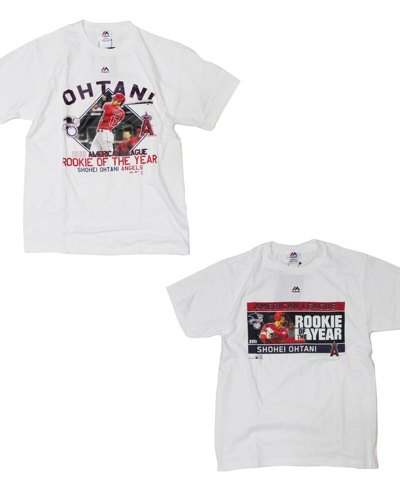 majestic   #17 OHTANI ROOKIE OF THE YEAR TEE