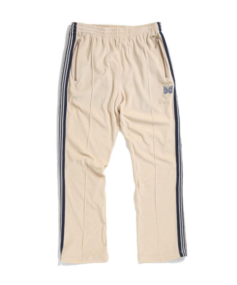 Needles NARROW TRACK PANT  C/PE VELOUR - BEIGE
