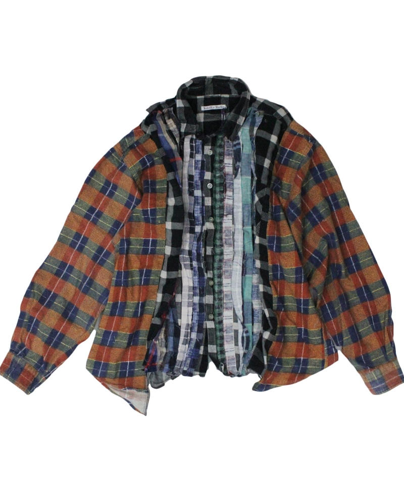 Rebuild by Needles Ribbon Flannel Shirt wide - onesize  #1