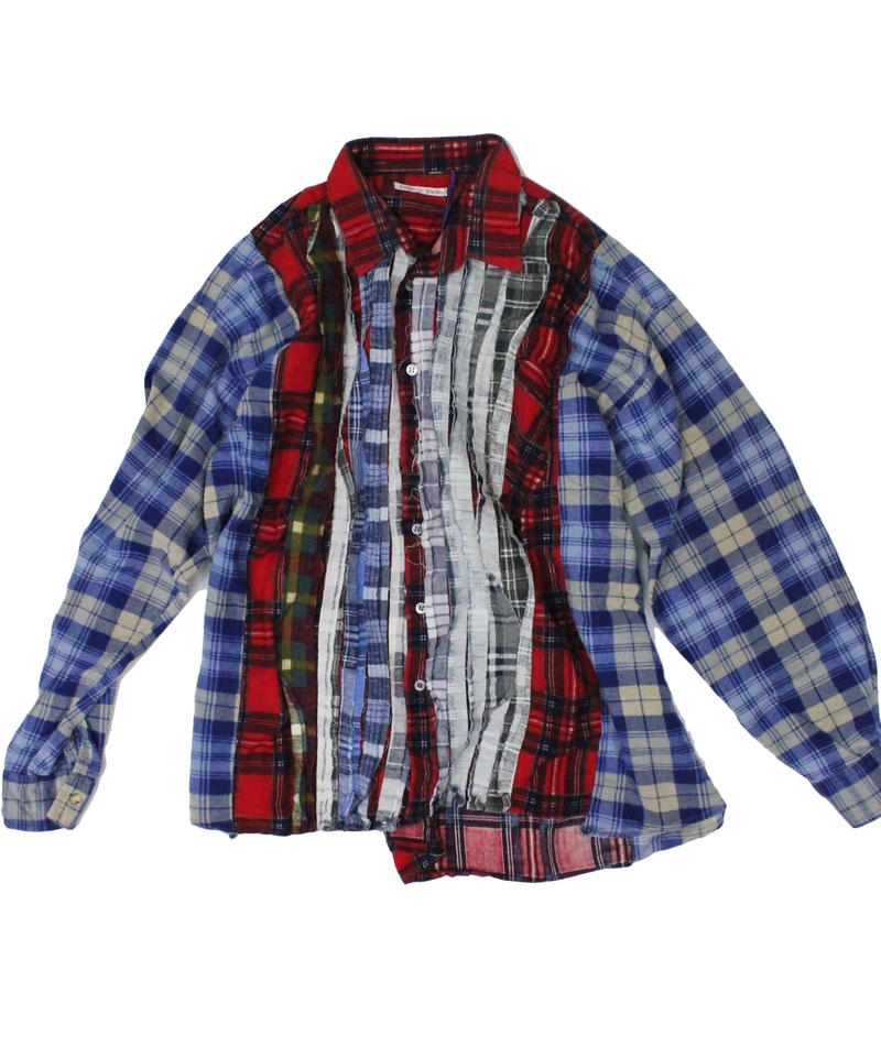 Rebuild by Needles Ribbon Flannel Shirt wide - onesize #8