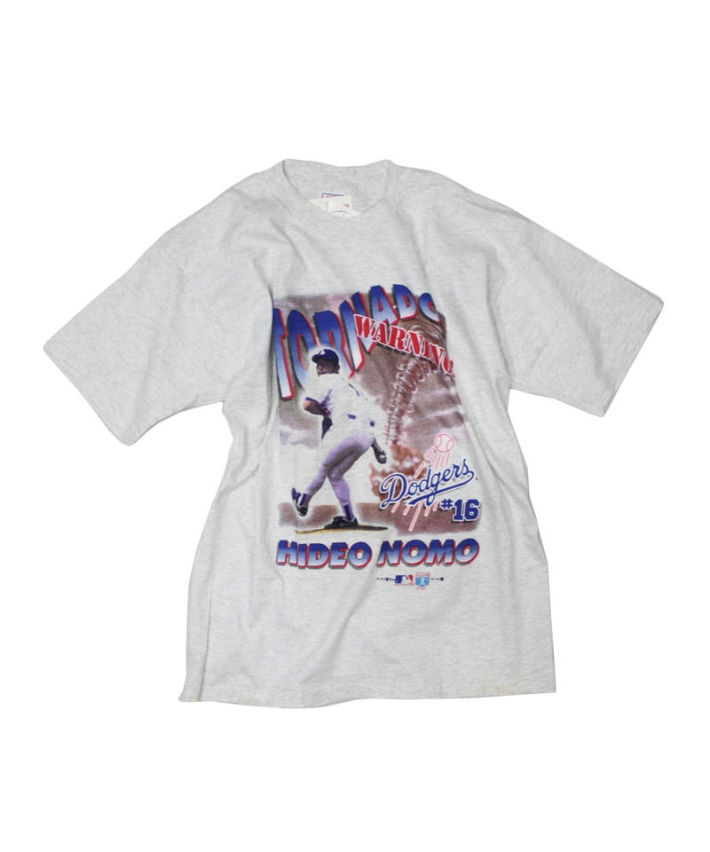 dead stock:Los Angeles Dodgers #16 HIDEO NOMO TORNADO tee