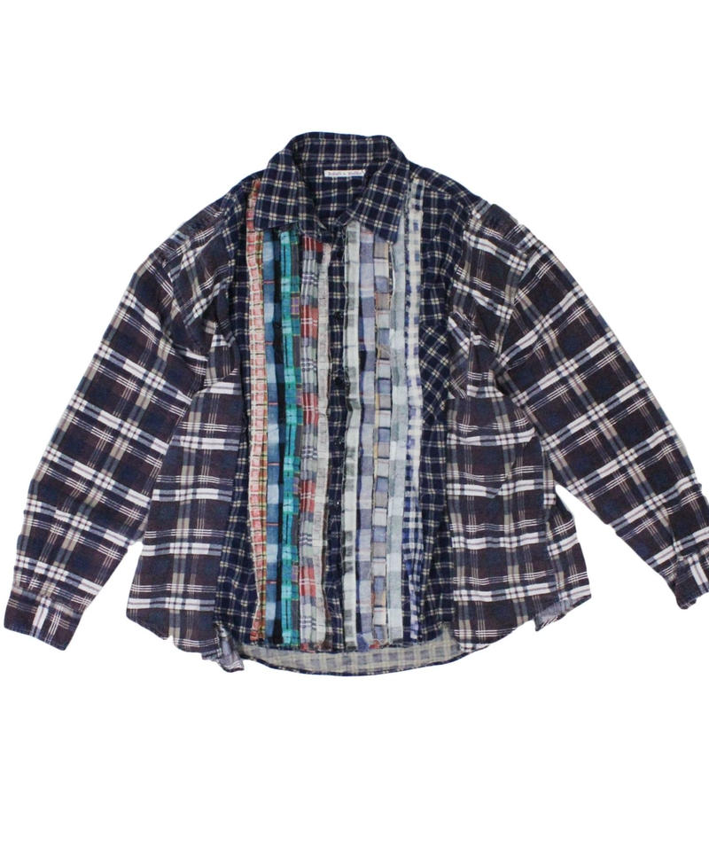 Rebuild by Needles Ribbon Flannel Shirt wide - onesize #4
