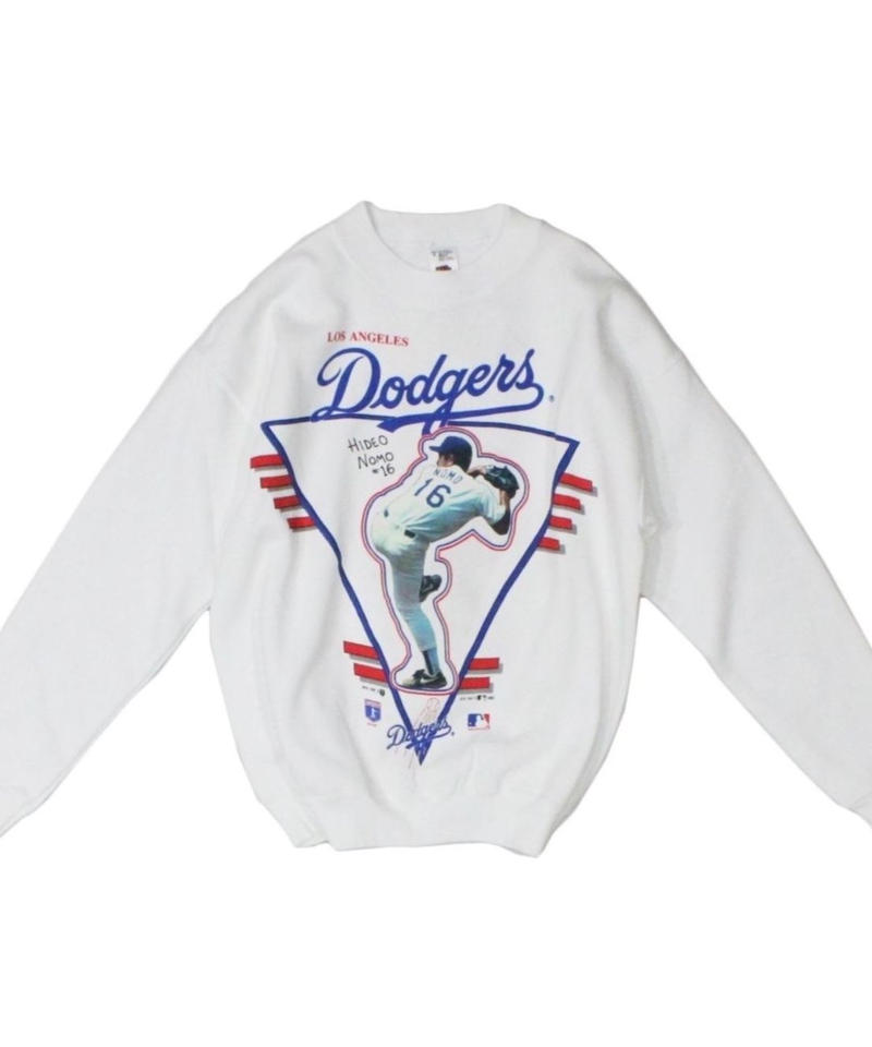 Los Angeles Dodgers #16 HIDEO NOMO dead stock long sleeve sweat -Fruit of the room
