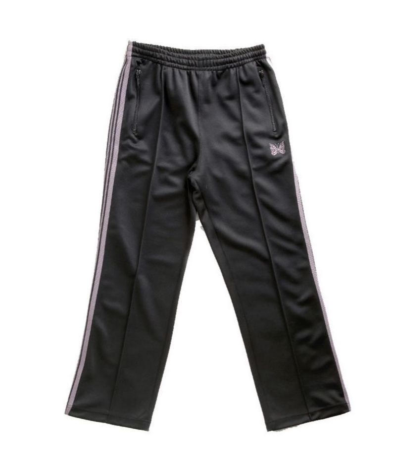 Needles TRACK PANT - POLY SMOOTH BLACK