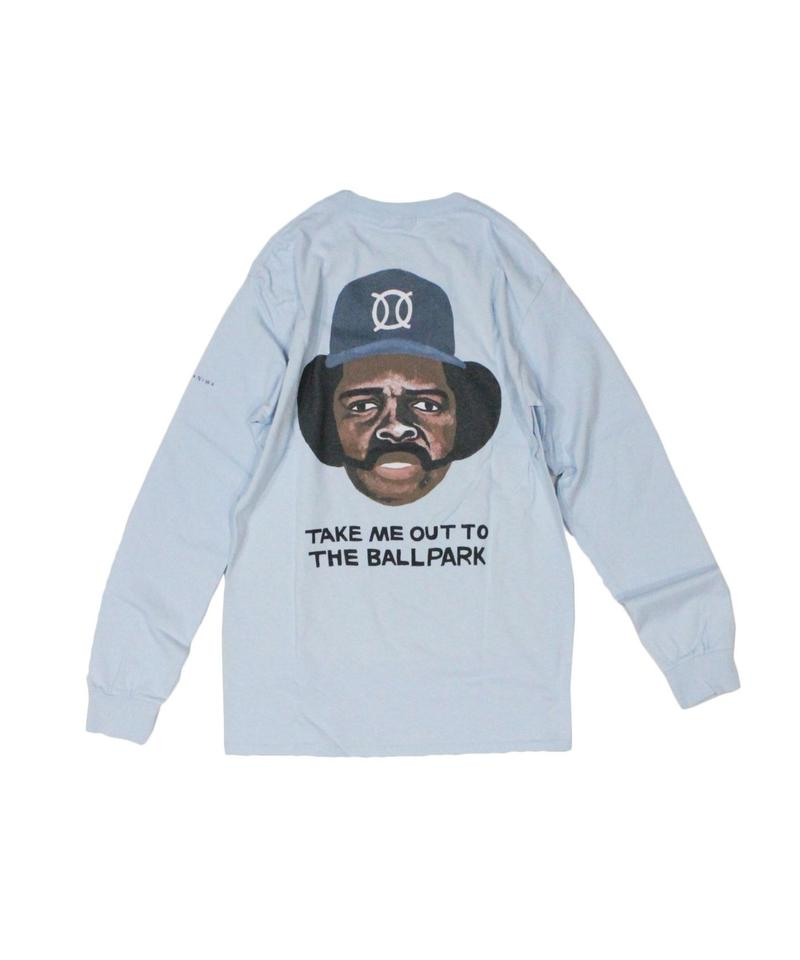 TAMANIWA:ball park  long sleeve tee - back print logo (OZZIE)