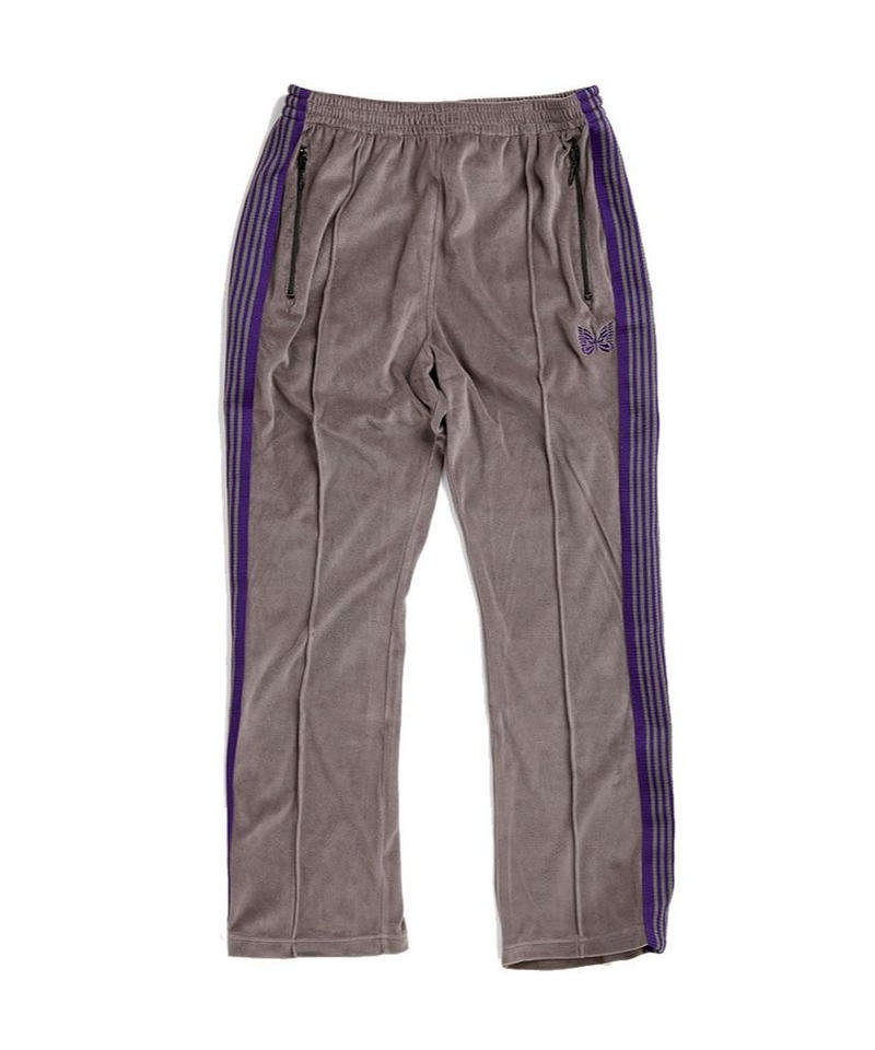 Needles NARROW TRACK PANT  C/PE VELOUR - GREY
