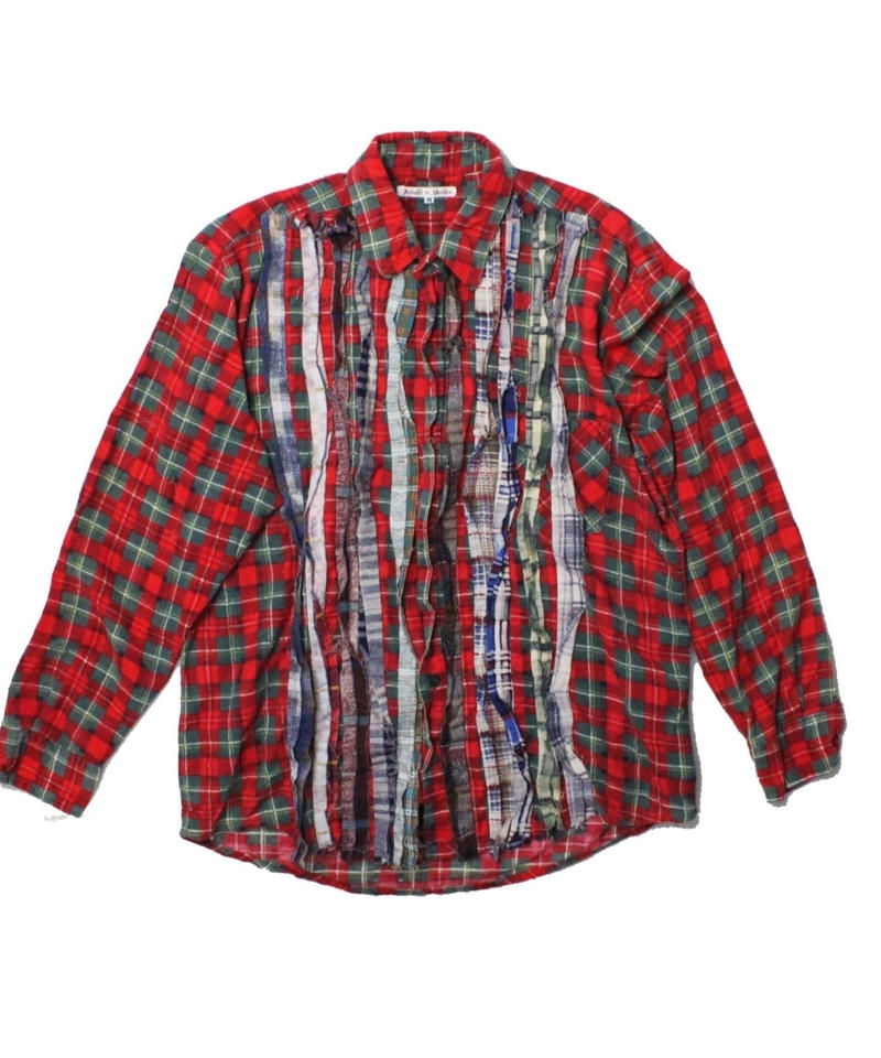 Rebuild by Needles Ribbon Flannel Shirt  RED ②  - M size