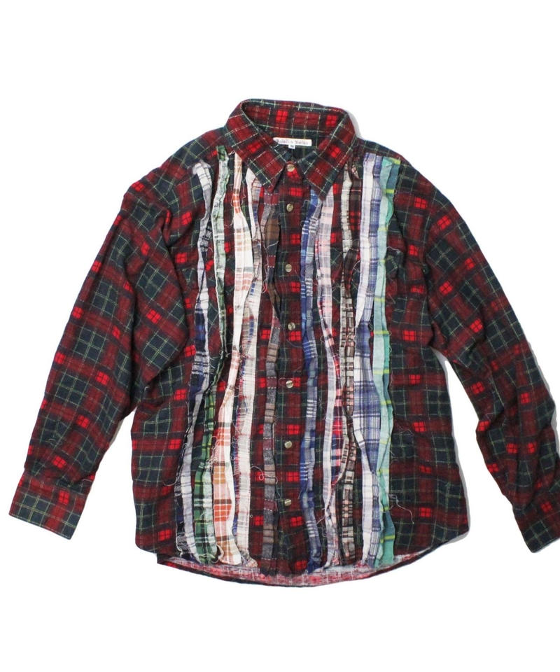 Rebuild by Needles  Ribbon Flannel Shirt     RED ④  - M size