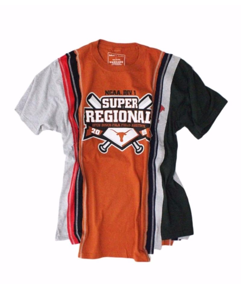 Rebuild by Needles 7 Cut Tee College #1 ORANGE - size L