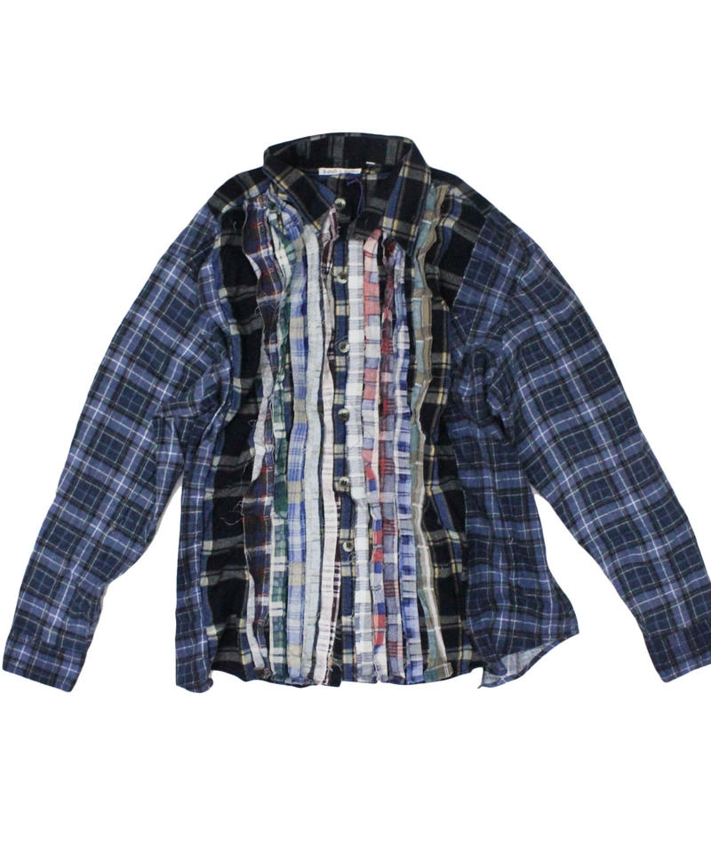 Rebuild by Needles Ribbon Flannel Shirt wide - onesize #3