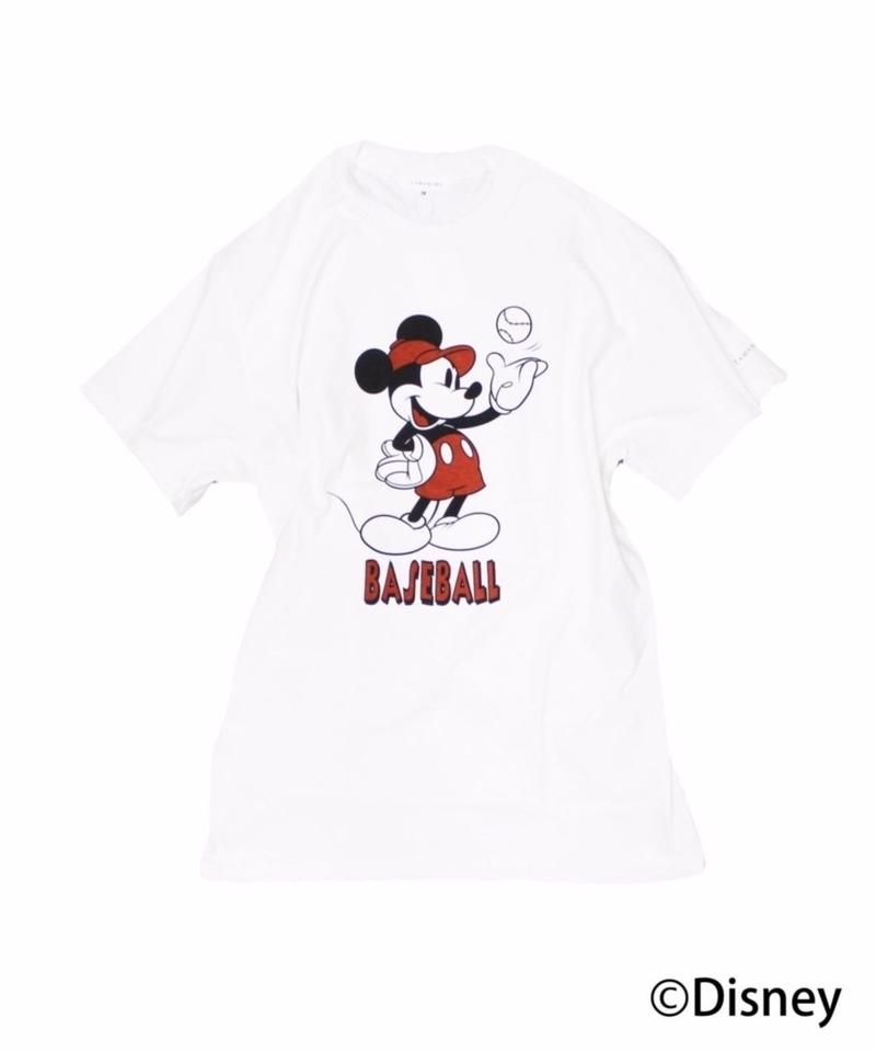 TAMANIWA: Base Ball  Short sleeve Tee  (Mickey Mouse)