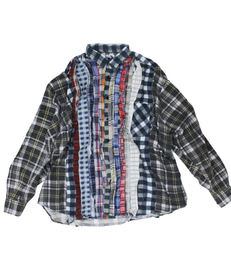 Rebuild by Needles Ribbon Flannel Shirt wide - onesize #6