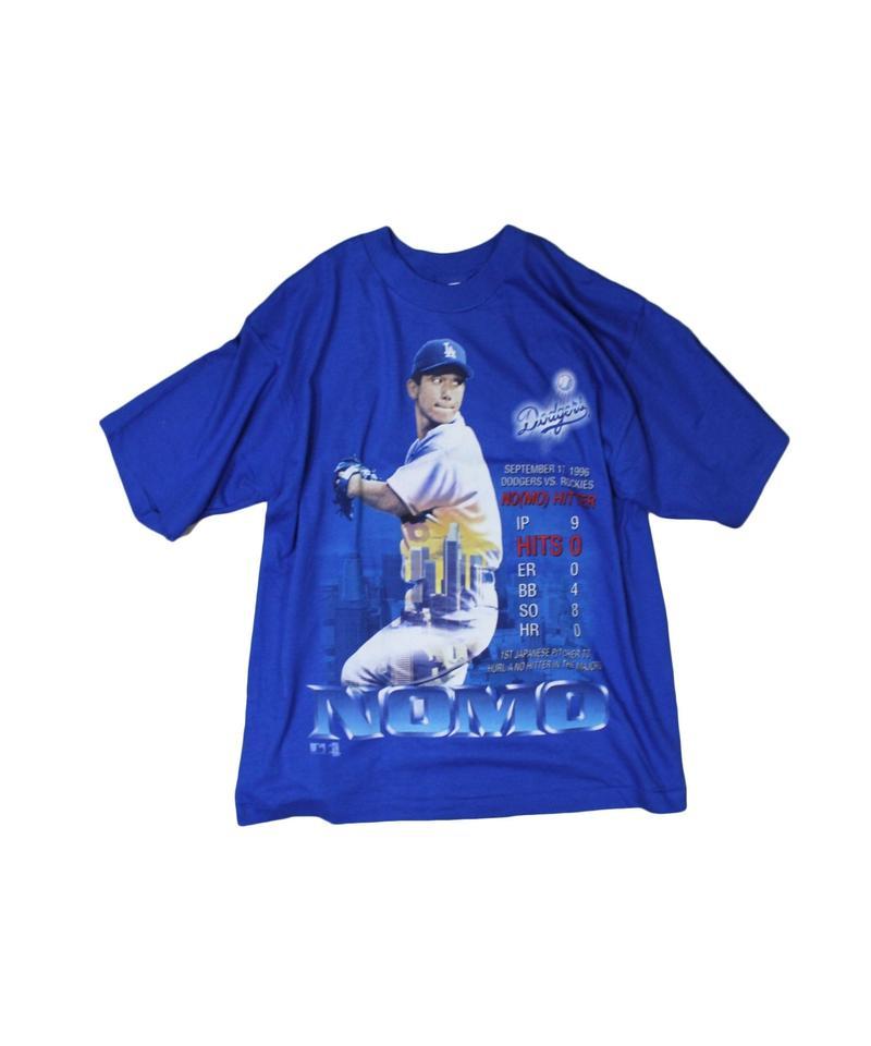dead stock:Los Angeles Dodgers #16 HIDEO NOMO  PRO PLAYER blue tee