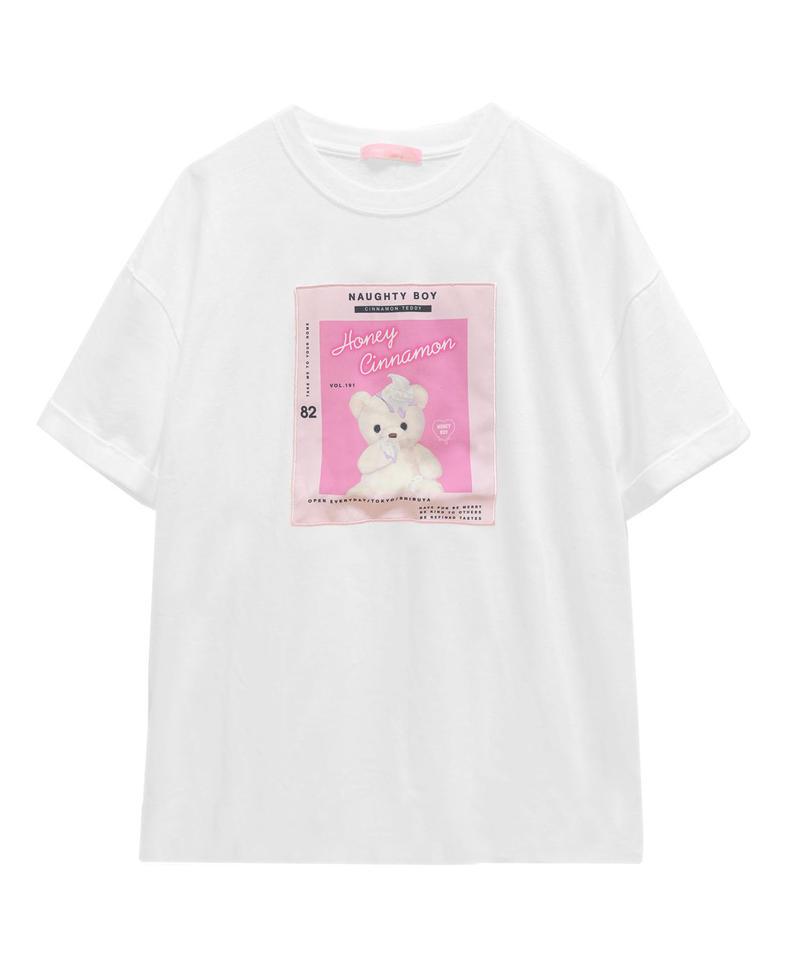 193CS0750 ピンクパッチTシャツ