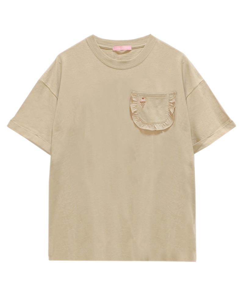 193CS0749 フリルポケットTシャツ