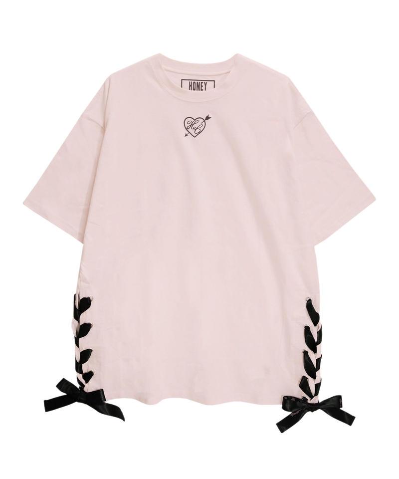 192CS0530 【再入荷】ハートアローレースアップTシャツ