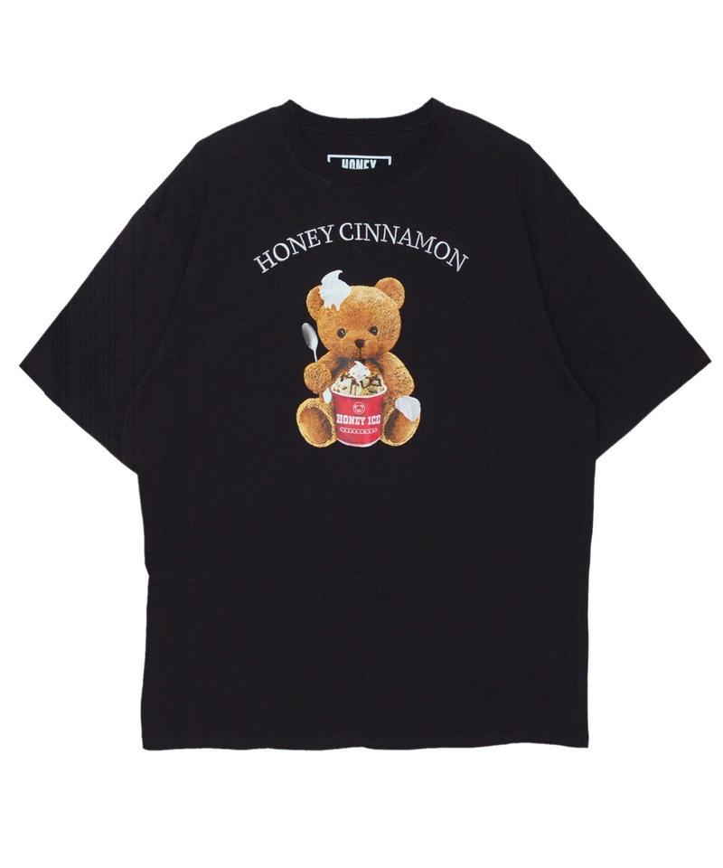 192CS0533<Unisex>HONEY  ICE シナモンTシャツ
