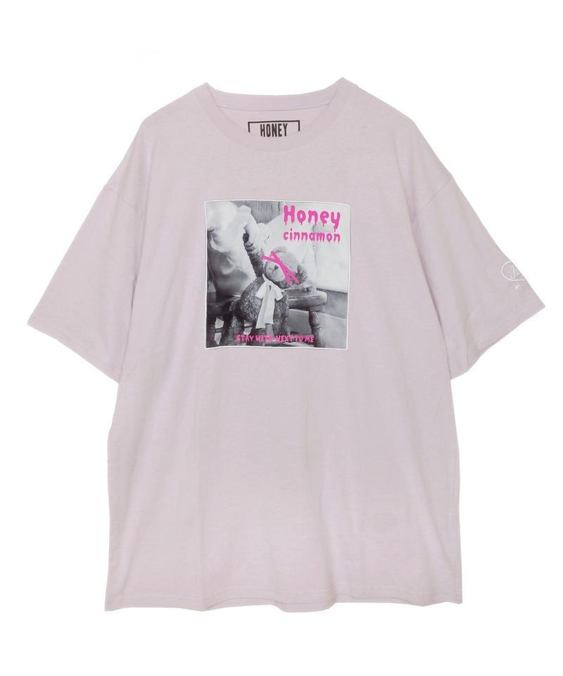 192CS0532<Unisex>ネオンロゴパッチTシャツ