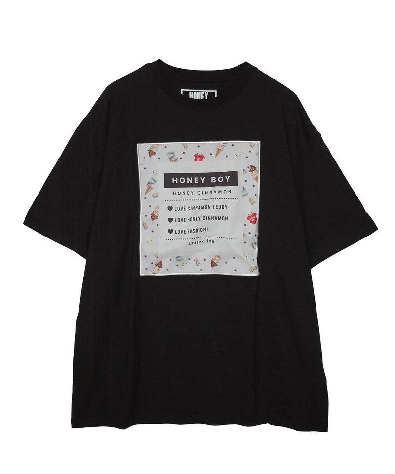 192CS0528 <Unisex>アイス総柄BOX Tシャツ