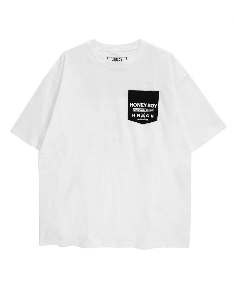 192CS0526<Unisex>胸ポケットプリントTシャツ