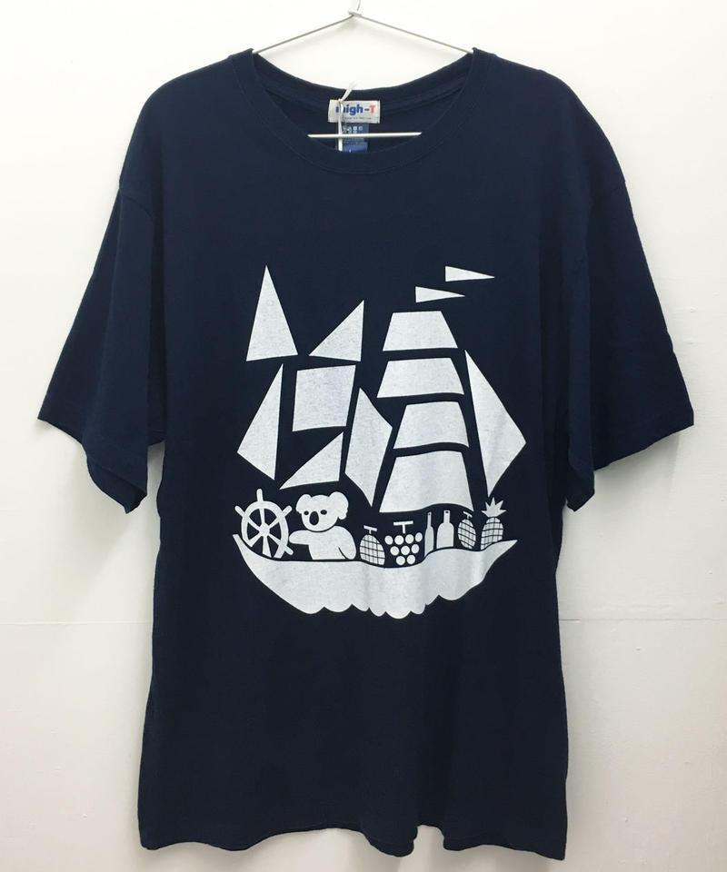 コアラ船インディゴTシャツ (dark indigo)