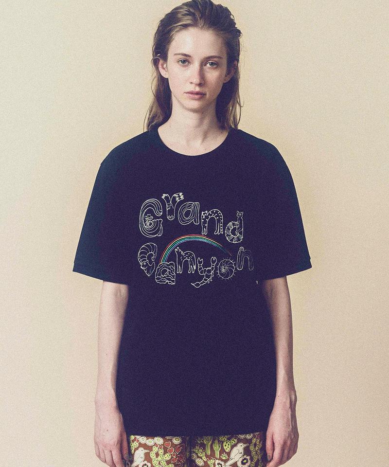 グランドキャニオンの生き物メンズスタイルTシャツ (black)