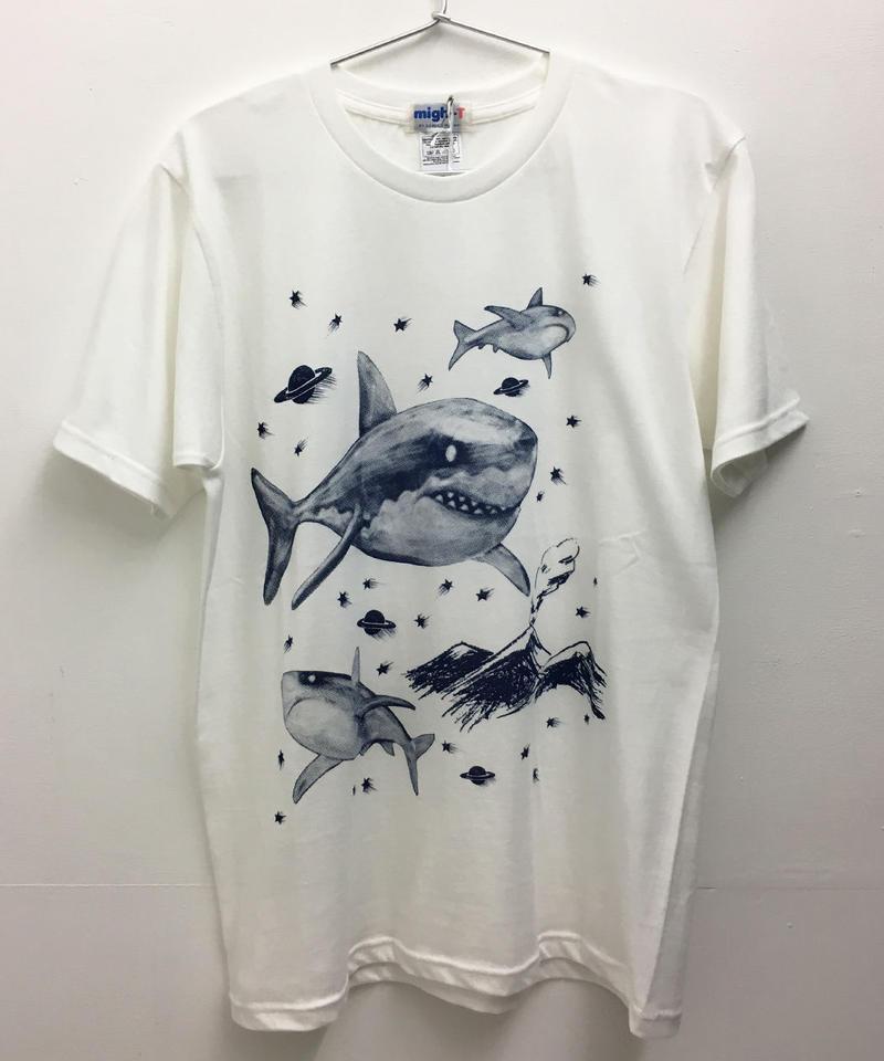 シャークTシャツ (white)